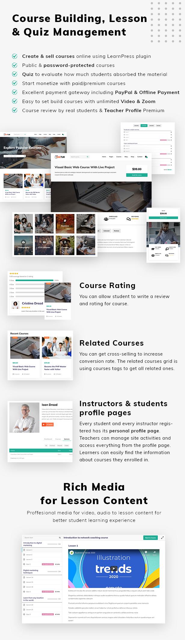 Coach Online Courses & LMS Education WordPress - Vultur - 4