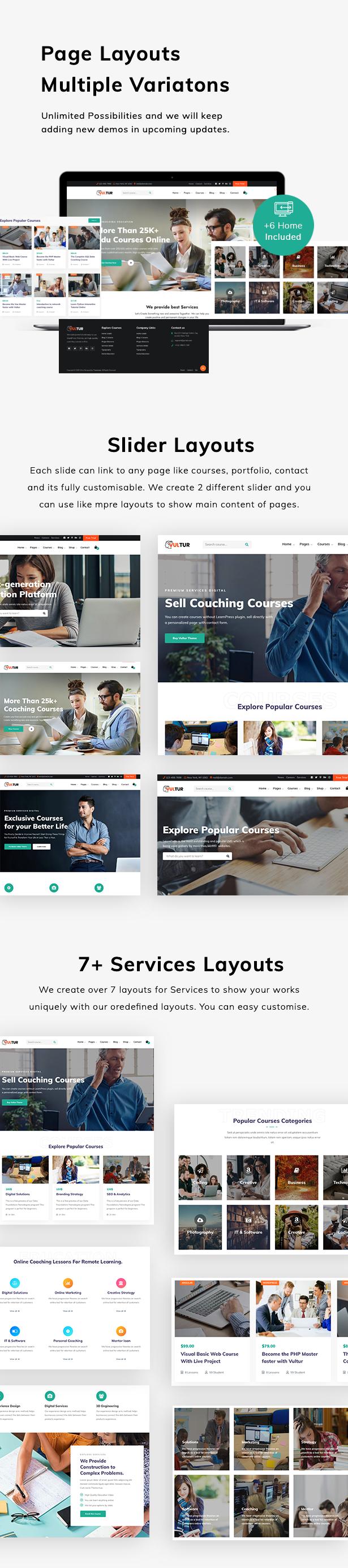Coach Online Courses & LMS Education WordPress - Vultur - 5
