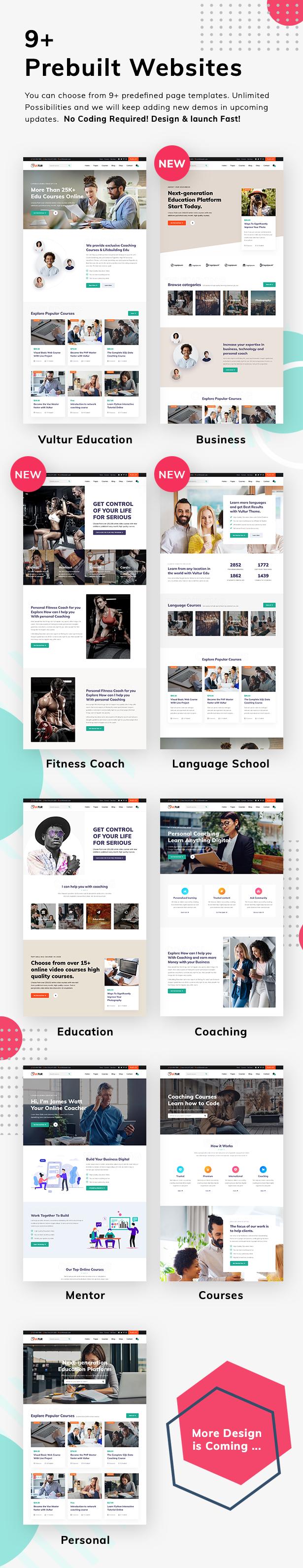 Coach Online Courses & LMS Education WordPress - Vultur - 3